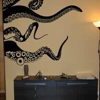 SALE Large Kraken/Octopus Tentacles Vinyl Wall Decal-Choose Any Color
