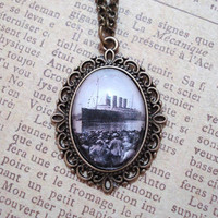 Titanic Vintage Brass Pendant Necklace