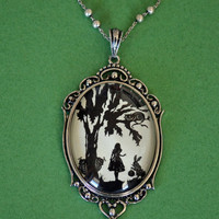 Alice in Wonderland Necklace, pendant on chain