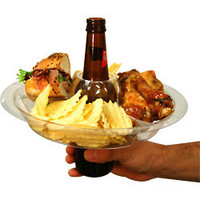 The Go Plate - Reusable Food &amp; Beverage Holder