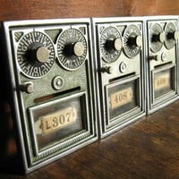 Vintage Post Office Box Door Double Combination by TheFancyLamb