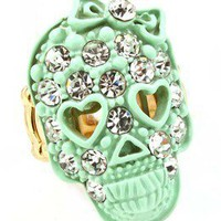 PrettyPinkDazzle — ♥ IceCream Skull Ring