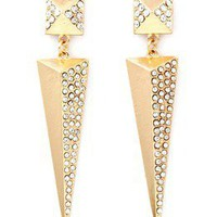 PrettyPinkDazzle — ♥PYRAMID CRYSTAL EARRINGS♥