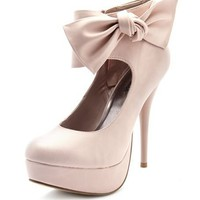 Bow-Wrapped Ankle Bootie: Charlotte Russe