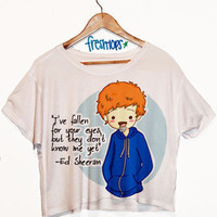 Ed Sheeran Hi Short Sleeve Crop Top | fresh-tops.com