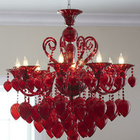 &quot;Red Chianti&quot; Chandelier - Horchow
