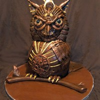 Threadcakes | Mechanic owl King Threadless cake by Jennifer Miller