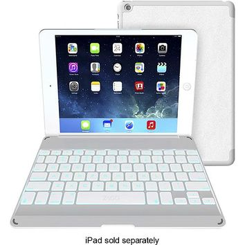 ZAGG - ZAGGkeys Folio Case and Bluetooth Keyboard for Apple® iPad® Air - White