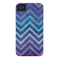 Denim Pastel Chevron iPhone 4/4S Case from Zazzle.com