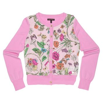 SOFT HUSH MINI TANGLED GARDEN PRINT CARDIGAN by Juicy Couture,