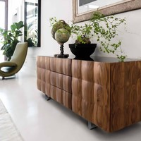 Venice Lacquered Sideboard Black