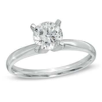 1 CT. Diamond Solitaire Engagement Ring in 14K White Gold