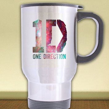 PREORDER***   travel mug silver  *** one direction 1D