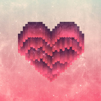 Interstellar Heart IV Art Print by VessDSign