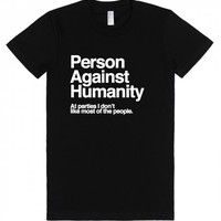 Person Against Humanity-Unisex Black T-Shirt