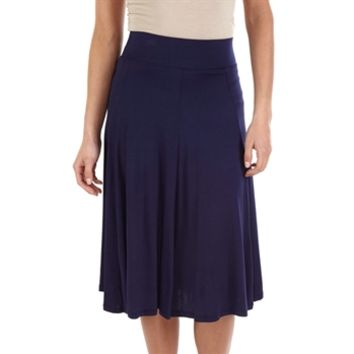 Living Doll Juniors Solid Knit Midi Skirt at Von Maur