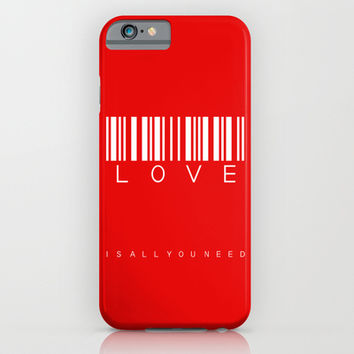 barcode - love is all you need iPhone & iPod Case by Steffi Louis Finds&art