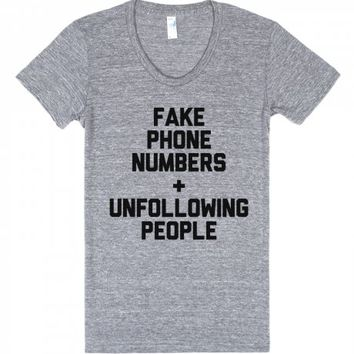 Fake & Unfollow-Unisex Athletic Grey T-Shirt