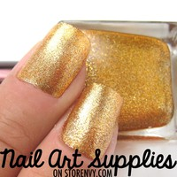 Molten Gold - Orange Gold Metallic Glitter Nail Polish 16ml from nailartsupplies