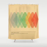 Visible Spectrum Shower Curtain by Budi Satria Kwan