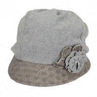 Gray flower embellishment hat   style zz92600701 in  Indressme