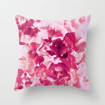 sweet peas variation Throw Pillow by Clemm