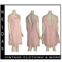 Essentials by ABS NWT $248 Pink Metallic Tent Dress Low Back L