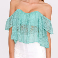 Modern Girl Lace Crop Top