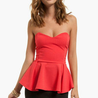 Aria Peplum Top $36