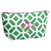 Surf Swell Beauty Pouch, Green Peyton