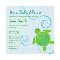 Honu Swirls Baby Shower or Birthday Invitation from Zazzle.com