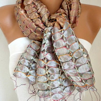 New Year's Fashion Silk Scarf Valentine Oversized Scarf Cowl Scarf Shawl Bridal Acessories Gift Ideas For Her Women Fashion Accessories