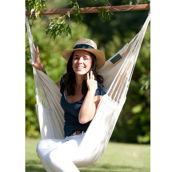 Organic Cotton Hammock Chair with Spreader Bar