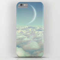 Dream Above The Clouds (Crescent Moon) iPhone & iPod Case by Soaring Anchor Designs