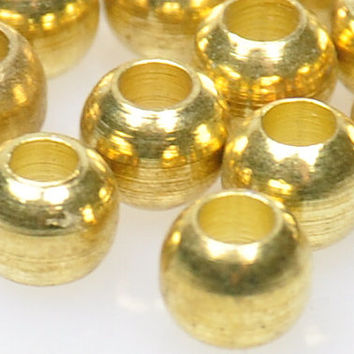 25 Pieces Matte Gold Ball Spacer Beads, Gold Jewelry Spacers, Jewelry Findings, Jewelry Making Supply