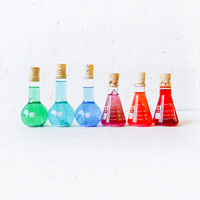 Mad Scientifical Chemistry - Colorful Science Beaker with Raw Quartz Glitter
