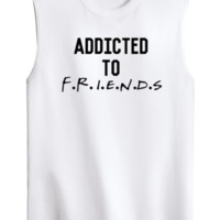Addicted To Friends Graphic Tank