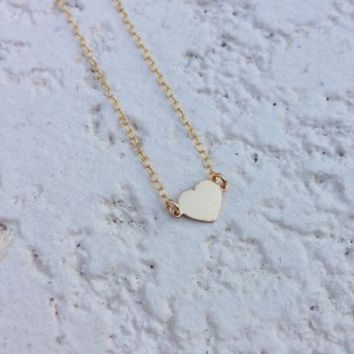 N&K Designs - Gold Tiny Heart Necklace | ShopMiamiStyle