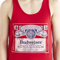 Junk Food Budweiser Tank- Red