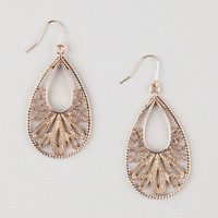 Full Tilt Teardrop Filigree Earrings Gold One Size For Women 25158762101