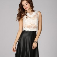 White Lacey Grace Crop Top