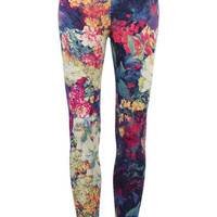 ROMWE | Flowers Print Leggings, The Latest Street Fashion