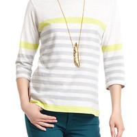 Stripes Of Citrus Boatneck