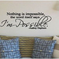 I'm Possible Vinyl Decal on Luulla