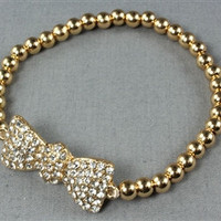 Gold Bow Arm Candy Bracelet