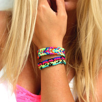 Electric Neons Friendship Bracelet.