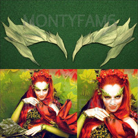 Poison Ivy GREEN leaf EYEBROW Costume Mask Uma Thurman ELF Mother Earth