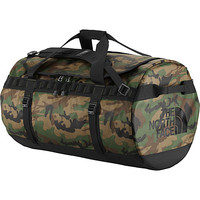 The North Face Base Camp Duffel Large Military Green Woodland Print/TNF Black - The North Face All Purpose Duffels - Default