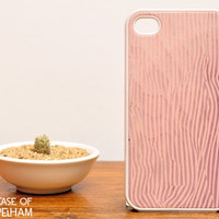 Pink Wood Print iPhone Case - Pastel iPhone Case - Pink iPhone 4 Case