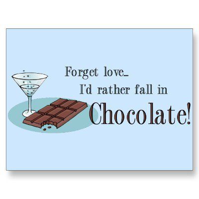 Chocolate Lover Postcard from Zazzle.com